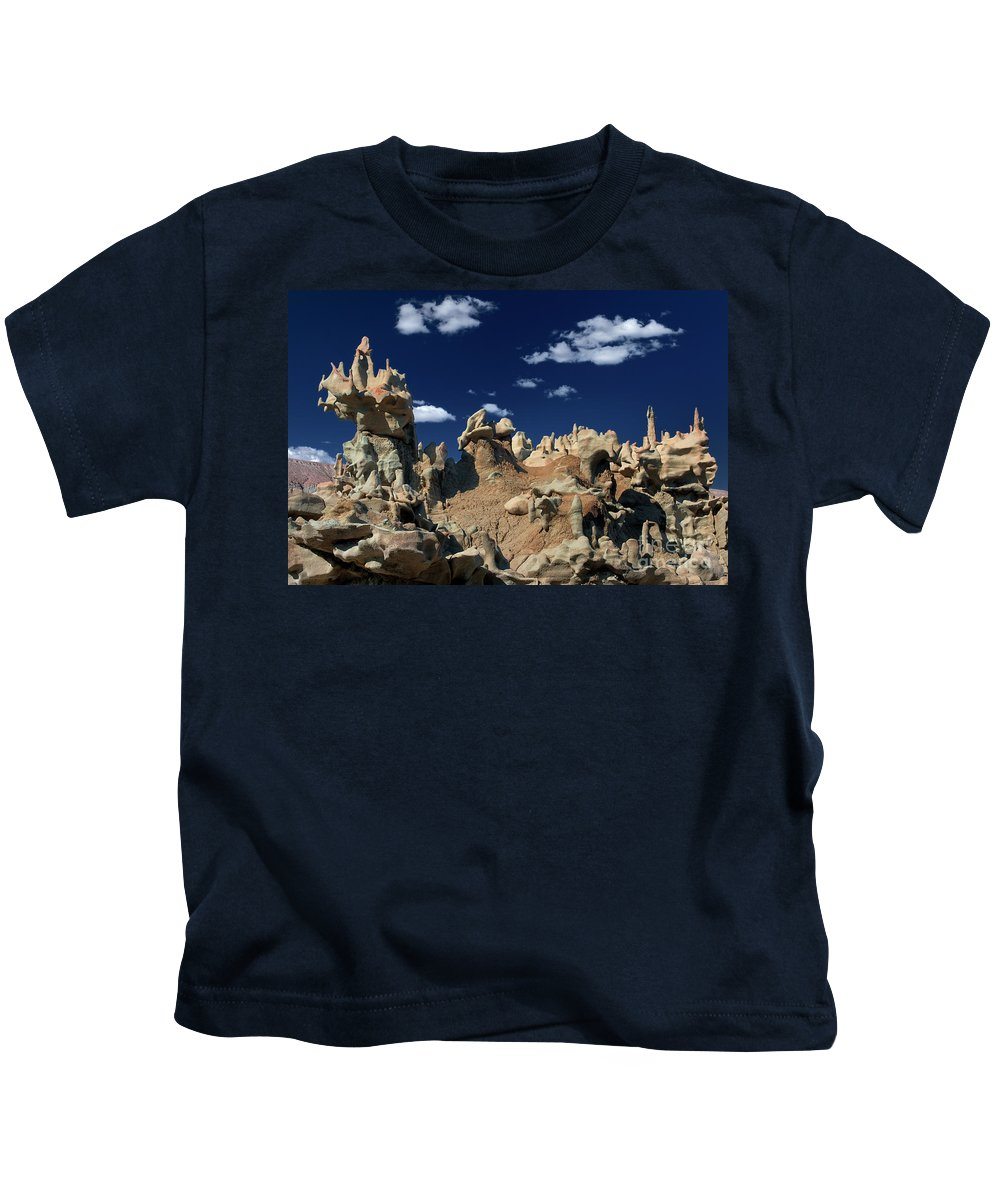 North America Kids T-Shirt featuring the photograph Eroded Sandstone Formations Fantasy Canyon Utah by Dave Welling