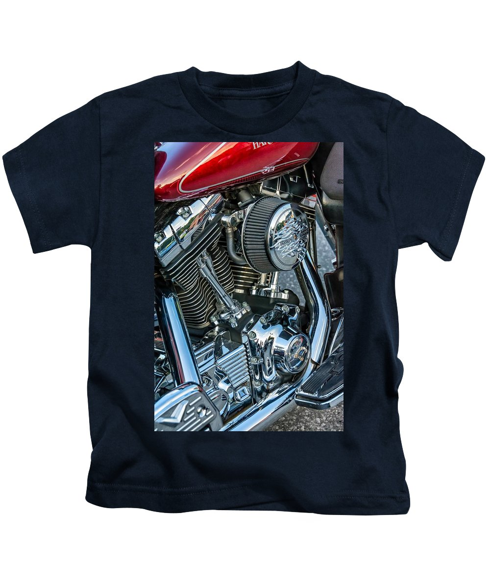 Steve Harrington Kids T-Shirt featuring the photograph Harley Davidson by Steve Harrington