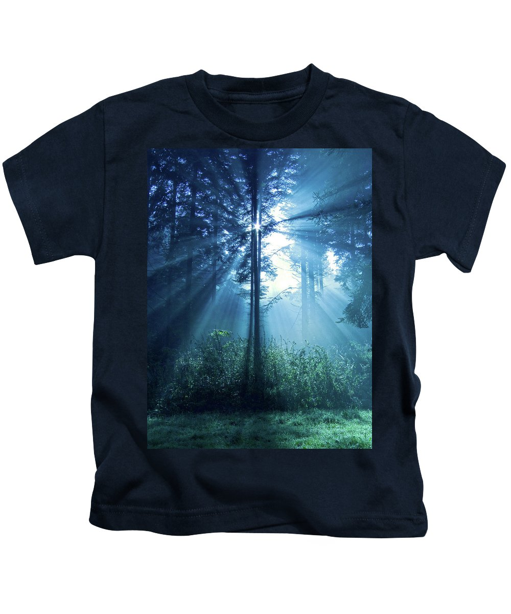 Nature Kids T-Shirt featuring the photograph Magical Light by Daniel Csoka