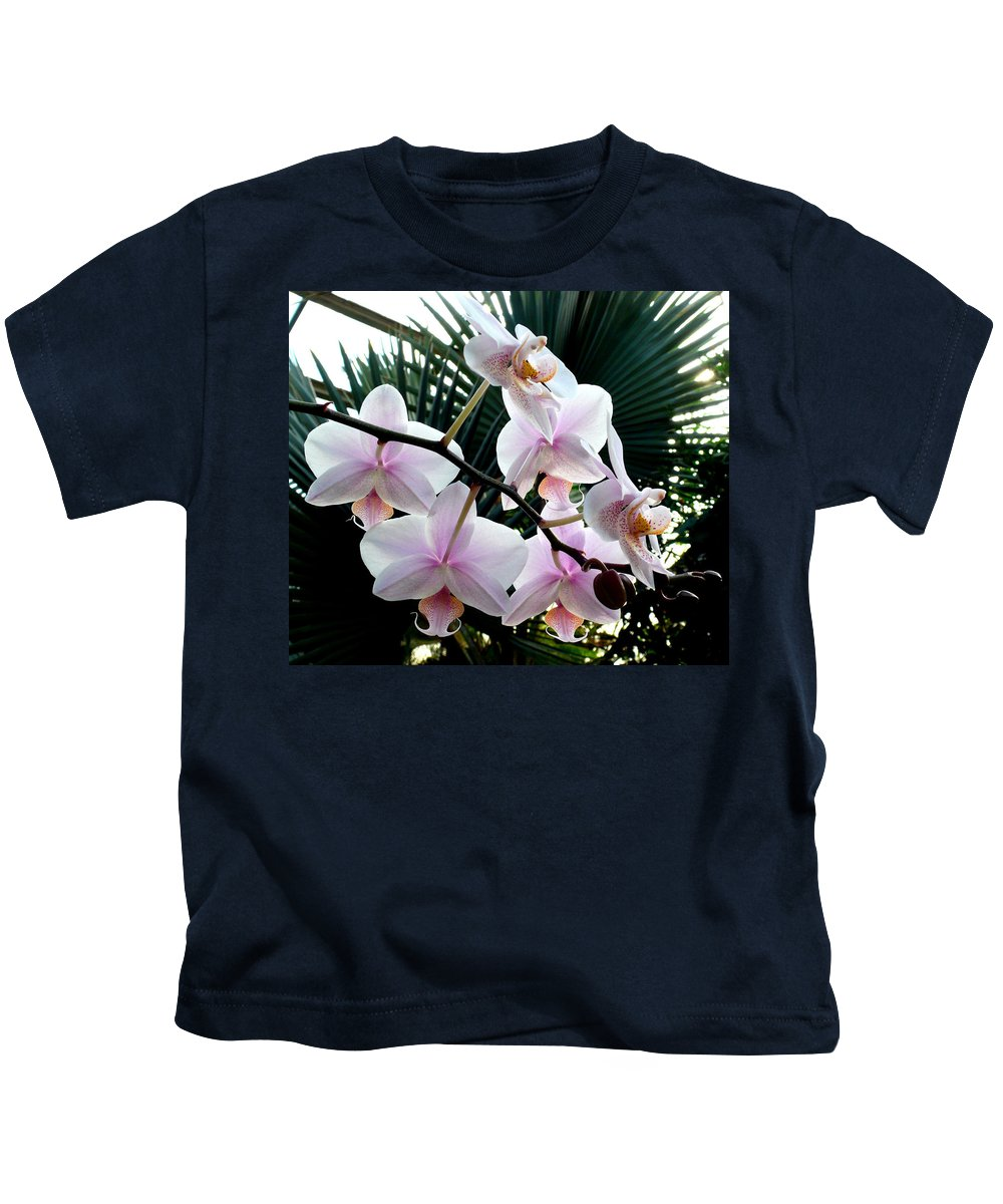 Orchid Kids T-Shirt featuring the photograph Orchid Series 7 by Katy Hawk