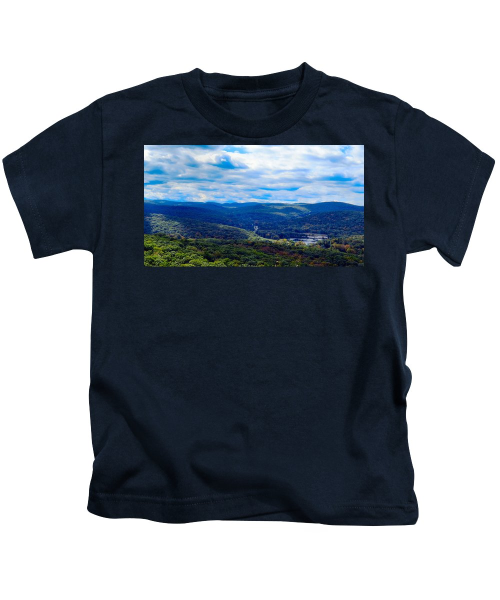 Sky Kids T-Shirt featuring the photograph Pond Hole by Art Dingo