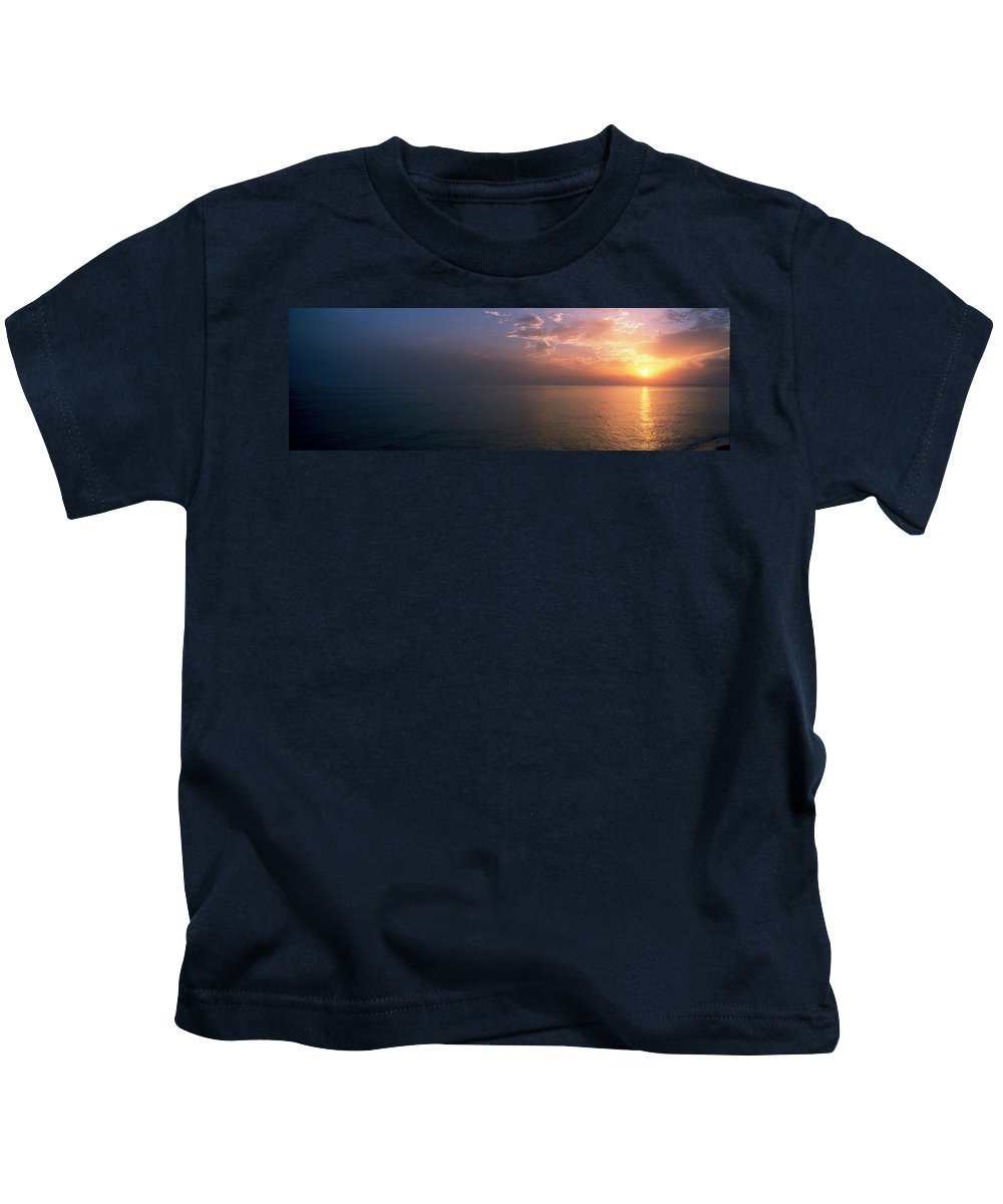 Photography Kids T-Shirt featuring the photograph Seascape The Algarve Portugal by Panoramic Images