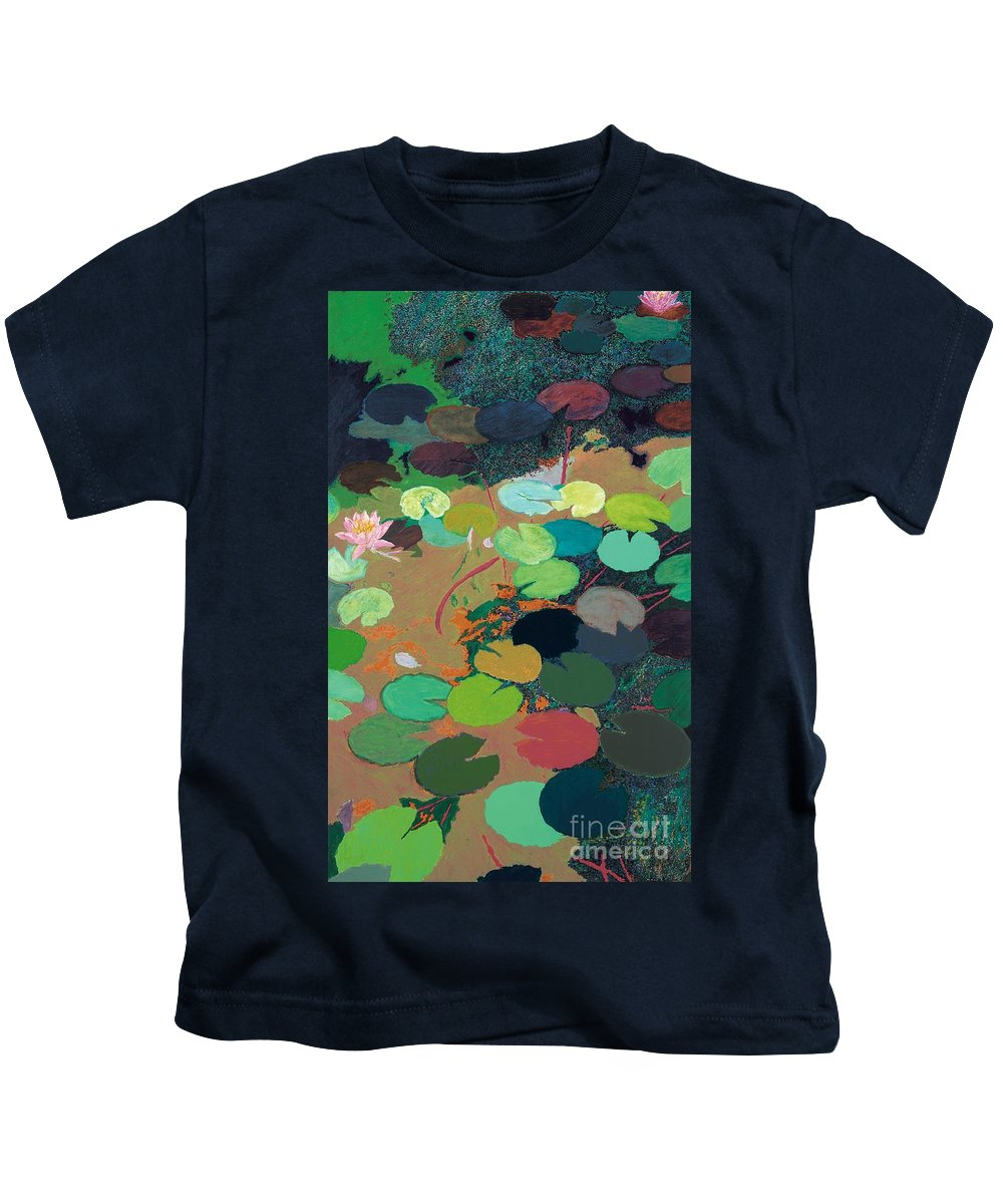 Landscape Kids T-Shirt featuring the painting Summer Rays by Allan P Friedlander