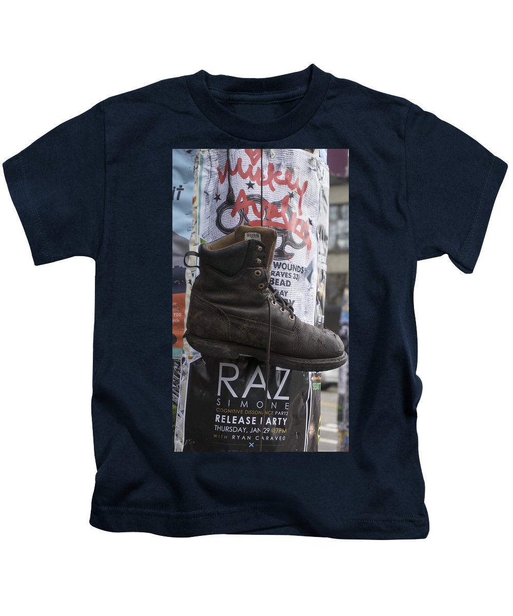Kids T-Shirt featuring the photograph The Boot by Cathy Anderson