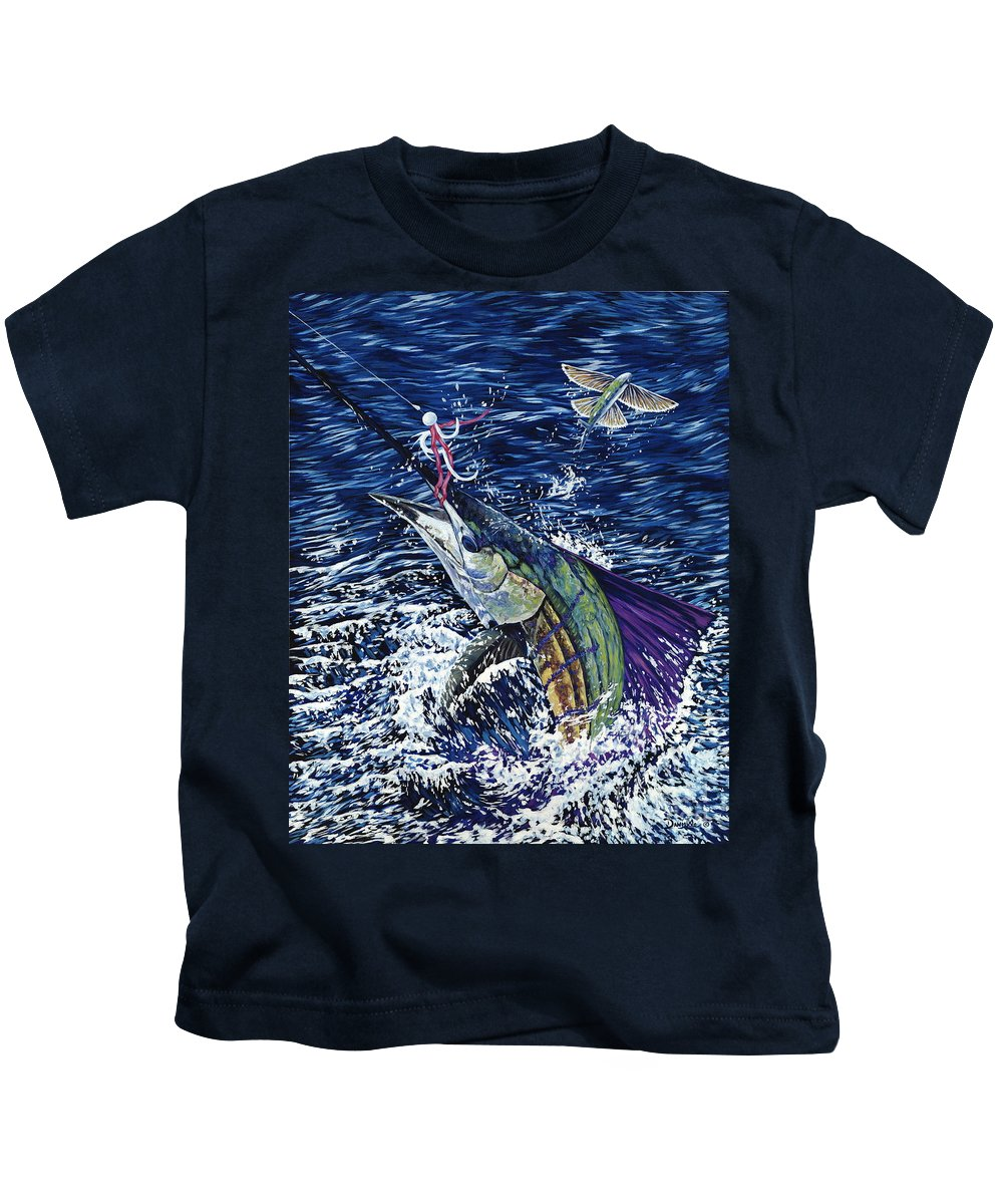 Sailfish Kids T-Shirt featuring the painting Top Sail by Danielle Perry