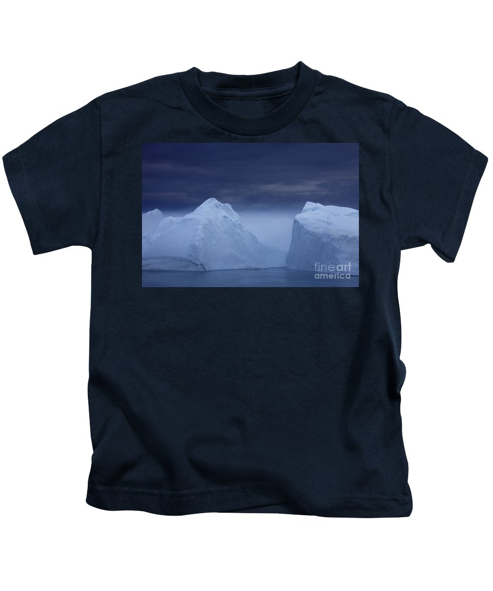 Iceberg Kids T-Shirt featuring the photograph 110307p045 by Arterra Picture Library