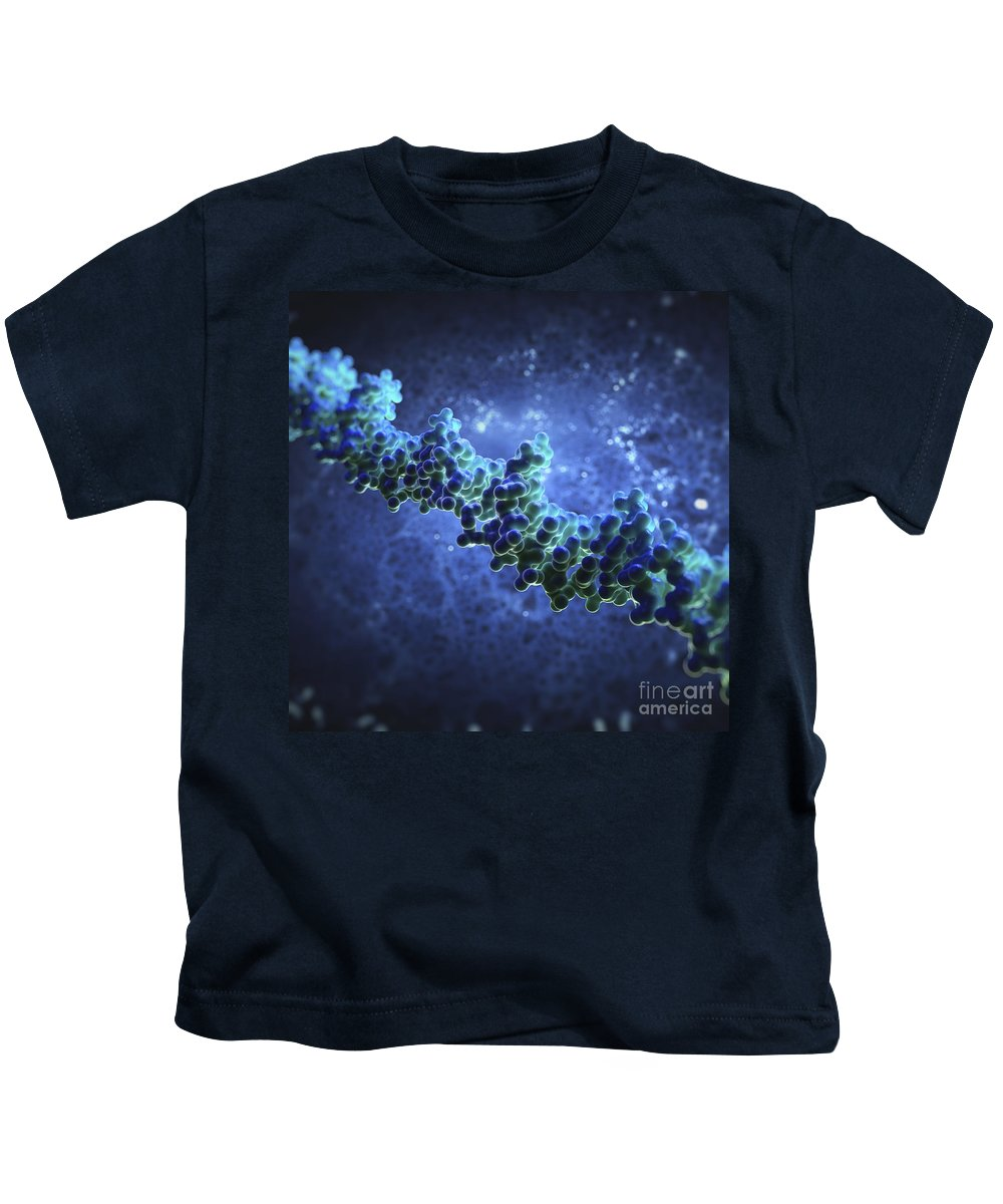 Double Helix Kids T-Shirt featuring the photograph Human Dna by Science Picture Co