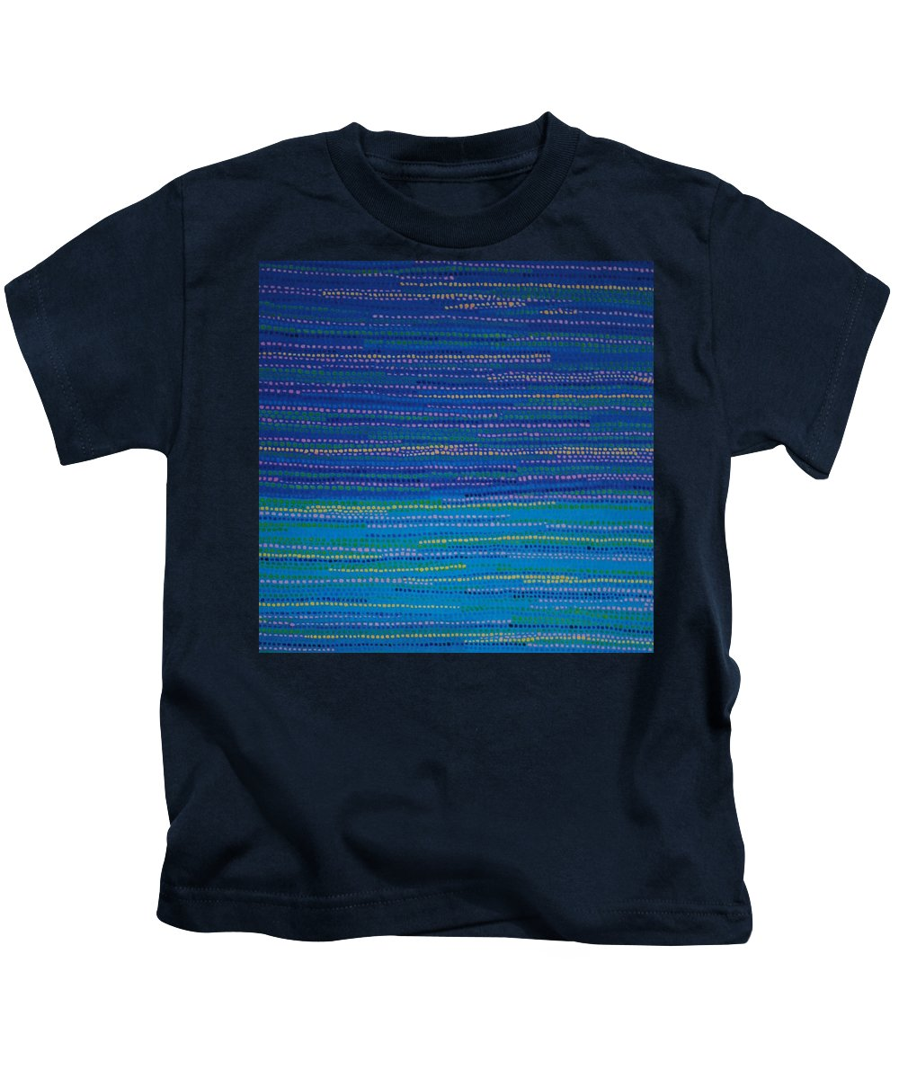 Inspirational Kids T-Shirt featuring the painting Identity by Kyung Hee Hogg