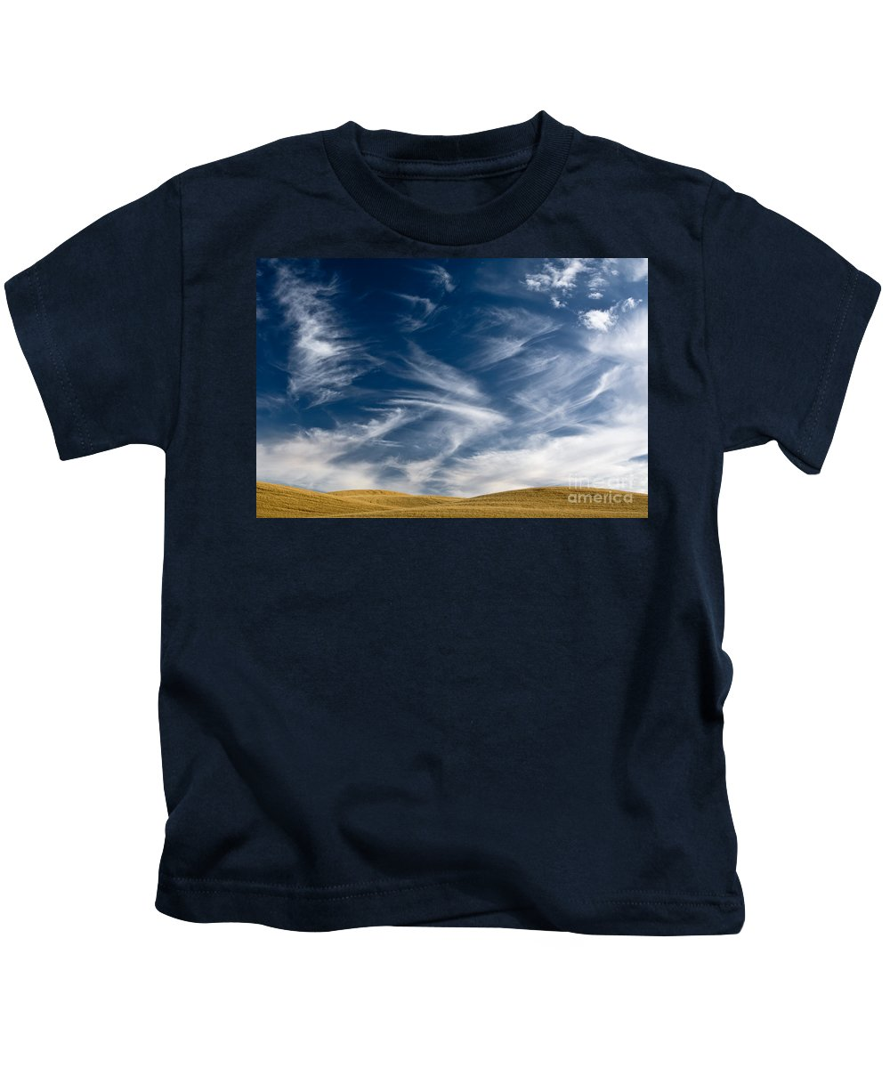 Farm Kids T-Shirt featuring the photograph Clouds And Field by John Shaw