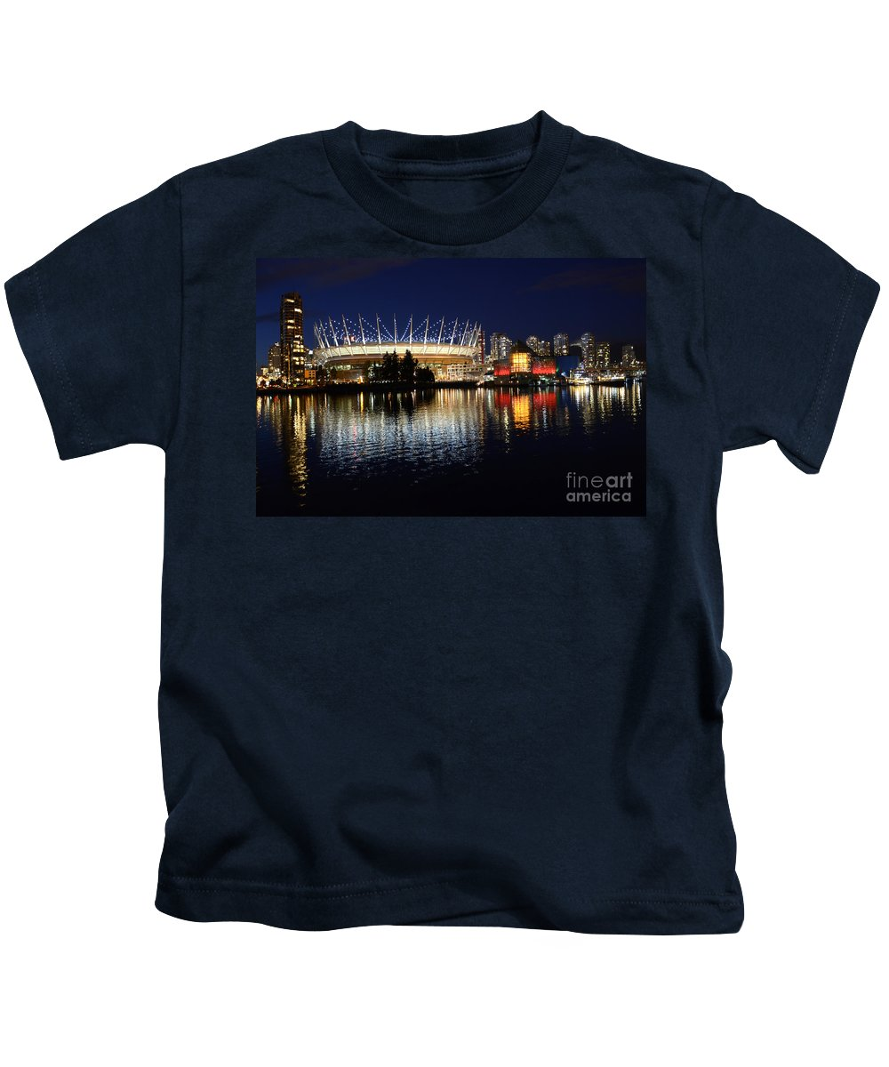 Canada Place Kids T-Shirt featuring the photograph Vancouver British Columbia 3 by Bob Christopher