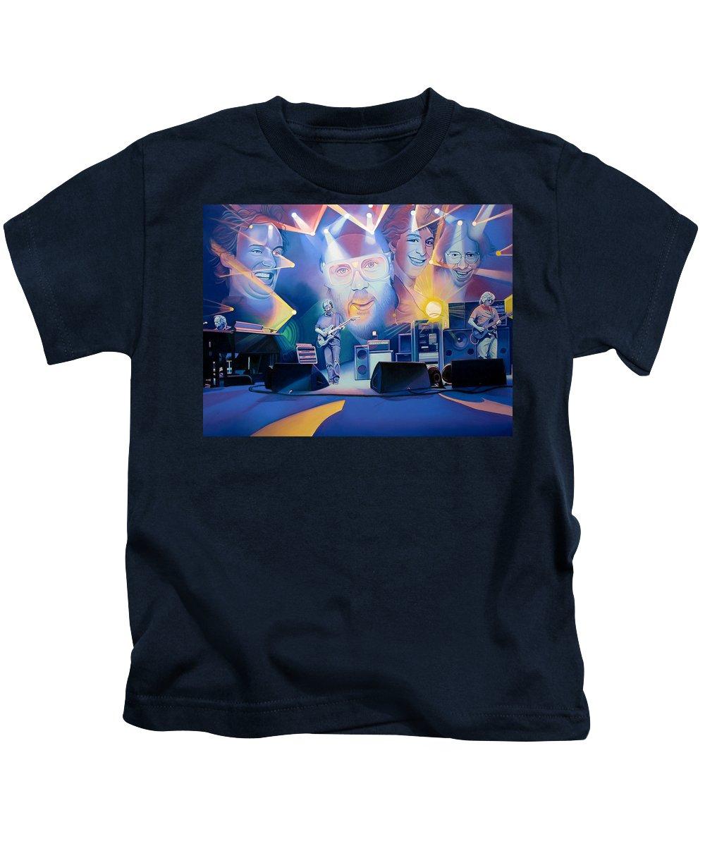 Phish Kids T-Shirt featuring the drawing Phish-20 Years Later by Joshua Morton