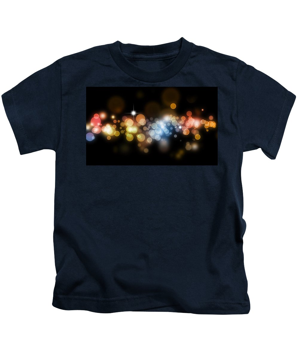 Abstract Kids T-Shirt featuring the digital art Abstract Background by Les Cunliffe