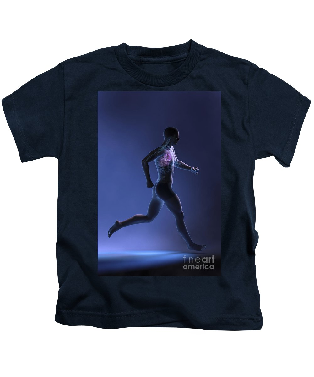 Circulation Kids T-Shirt featuring the photograph Cardiovascular Exercise by Science Picture Co
