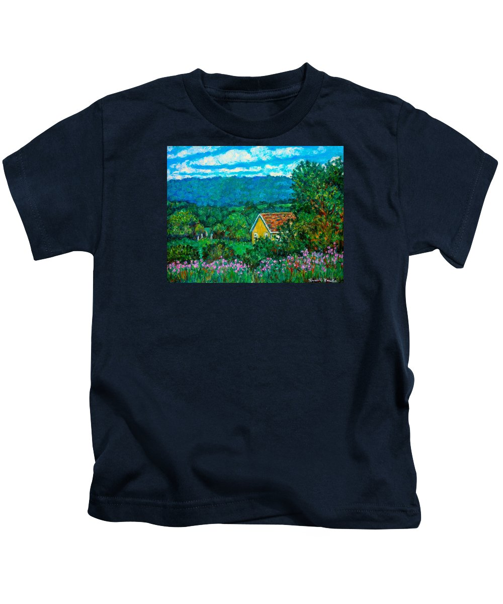 Landscape Kids T-Shirt featuring the painting 460 by Kendall Kessler