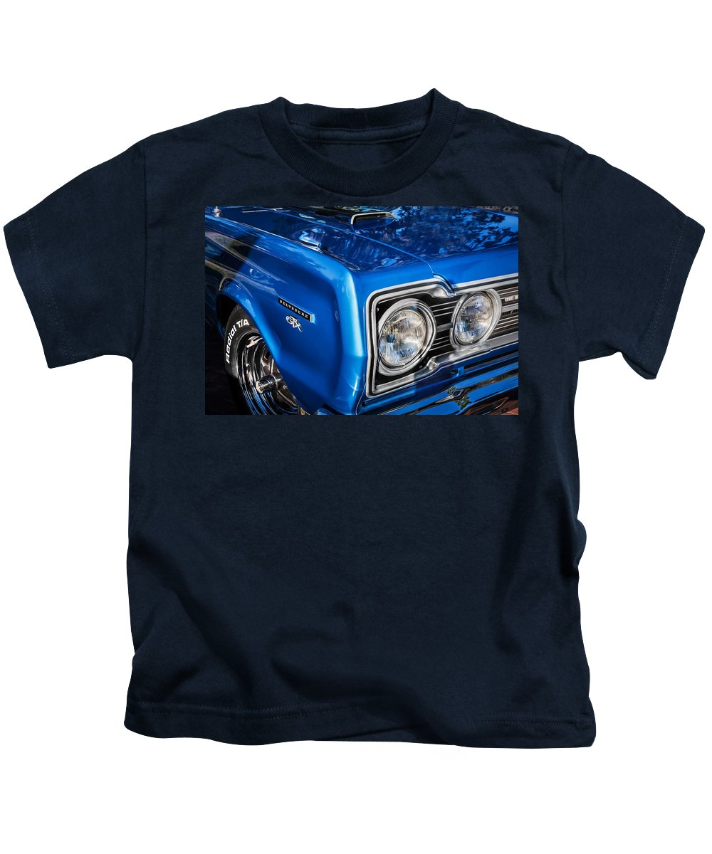 1967 Plymouth Kids T-Shirt featuring the photograph 1967 Plymouth Belvedere Gtx 440 Painted by Rich Franco