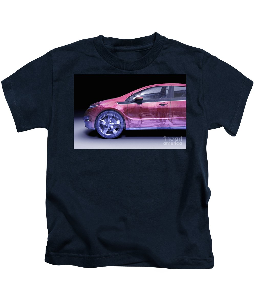 Technology Kids T-Shirt featuring the photograph Hybrid Car by Science Picture Co