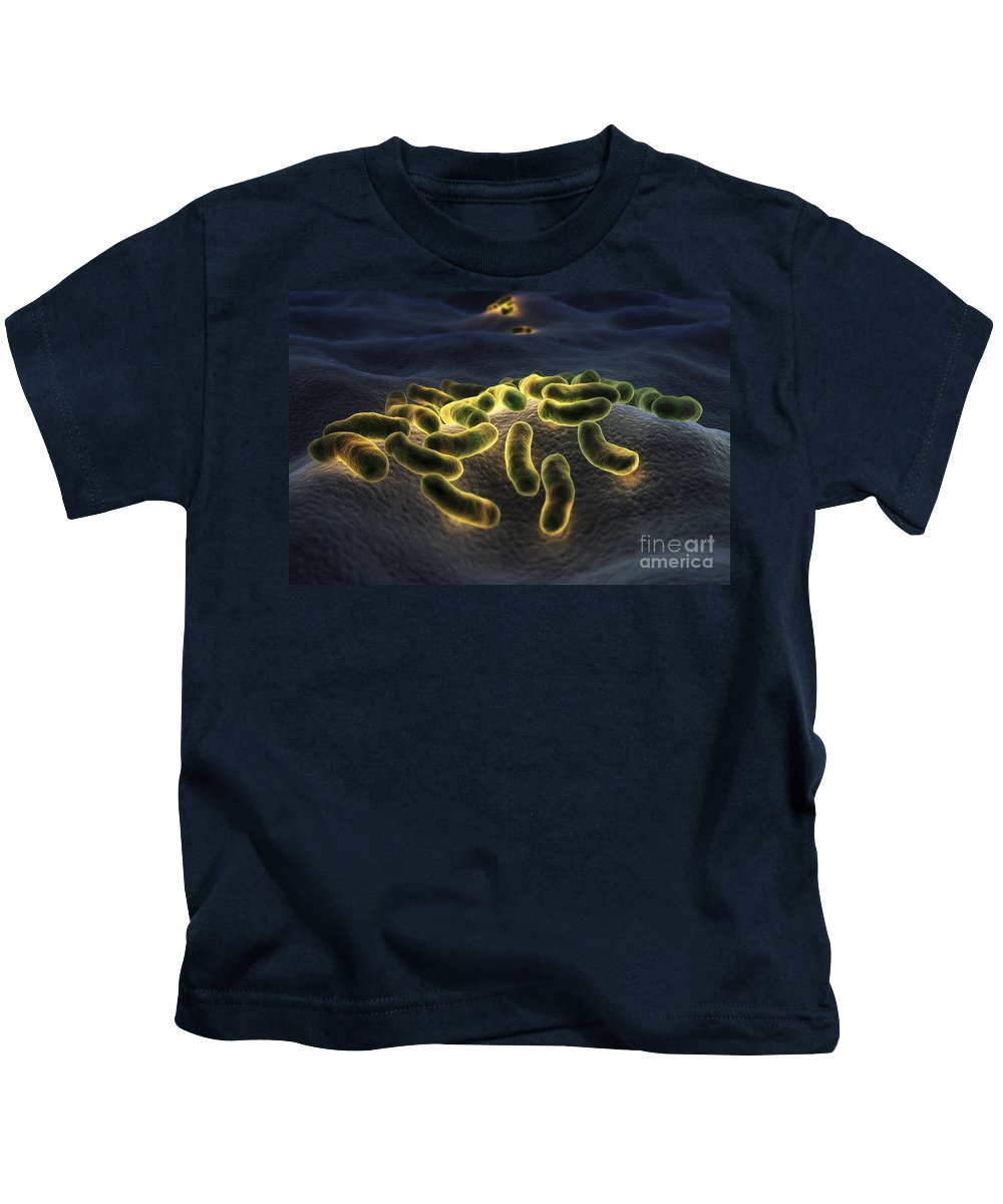 Ill Kids T-Shirt featuring the photograph Escherichia Coli Bacteria by Science Picture Co