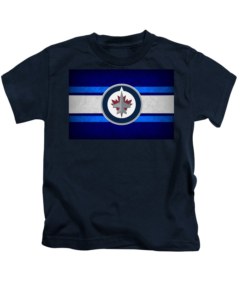 Jets Kids T-Shirt featuring the photograph Winnipeg Jets by Joe Hamilton