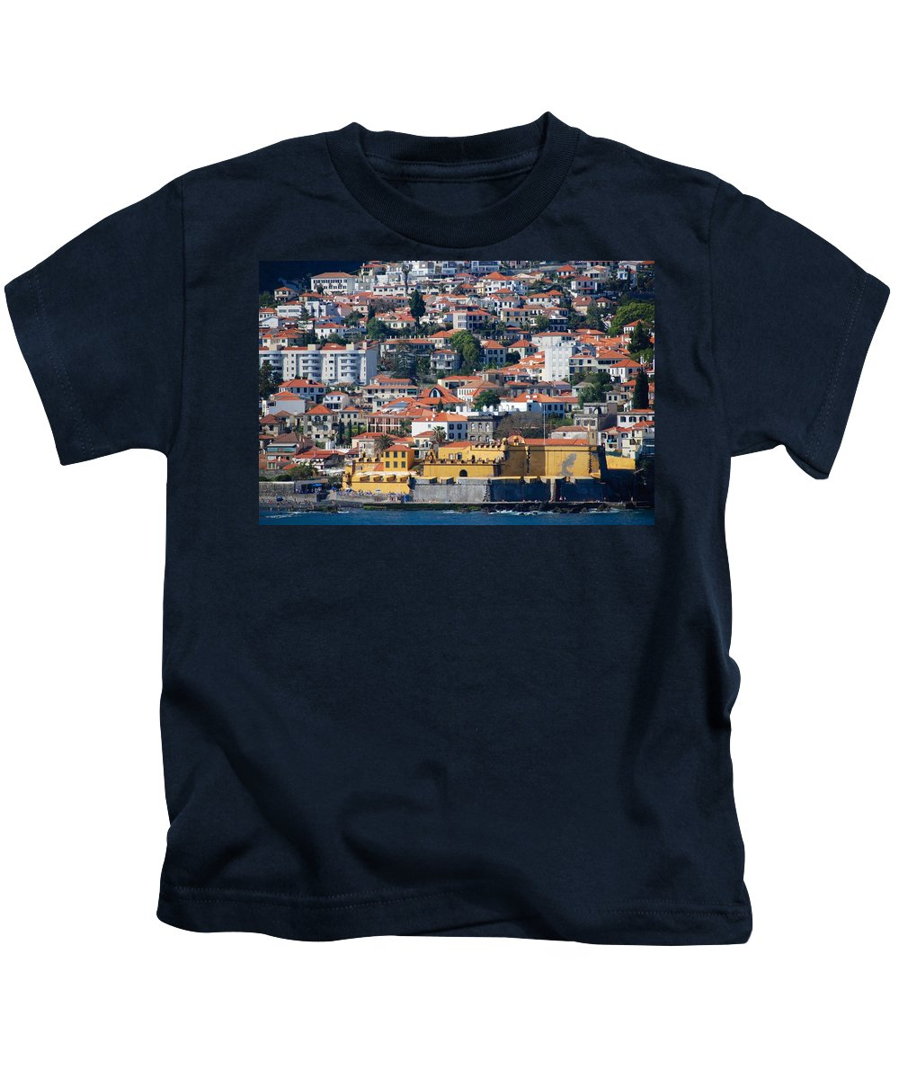 Funchal Kids T-Shirt featuring the photograph A Bit Of Funchal by Eric Tressler