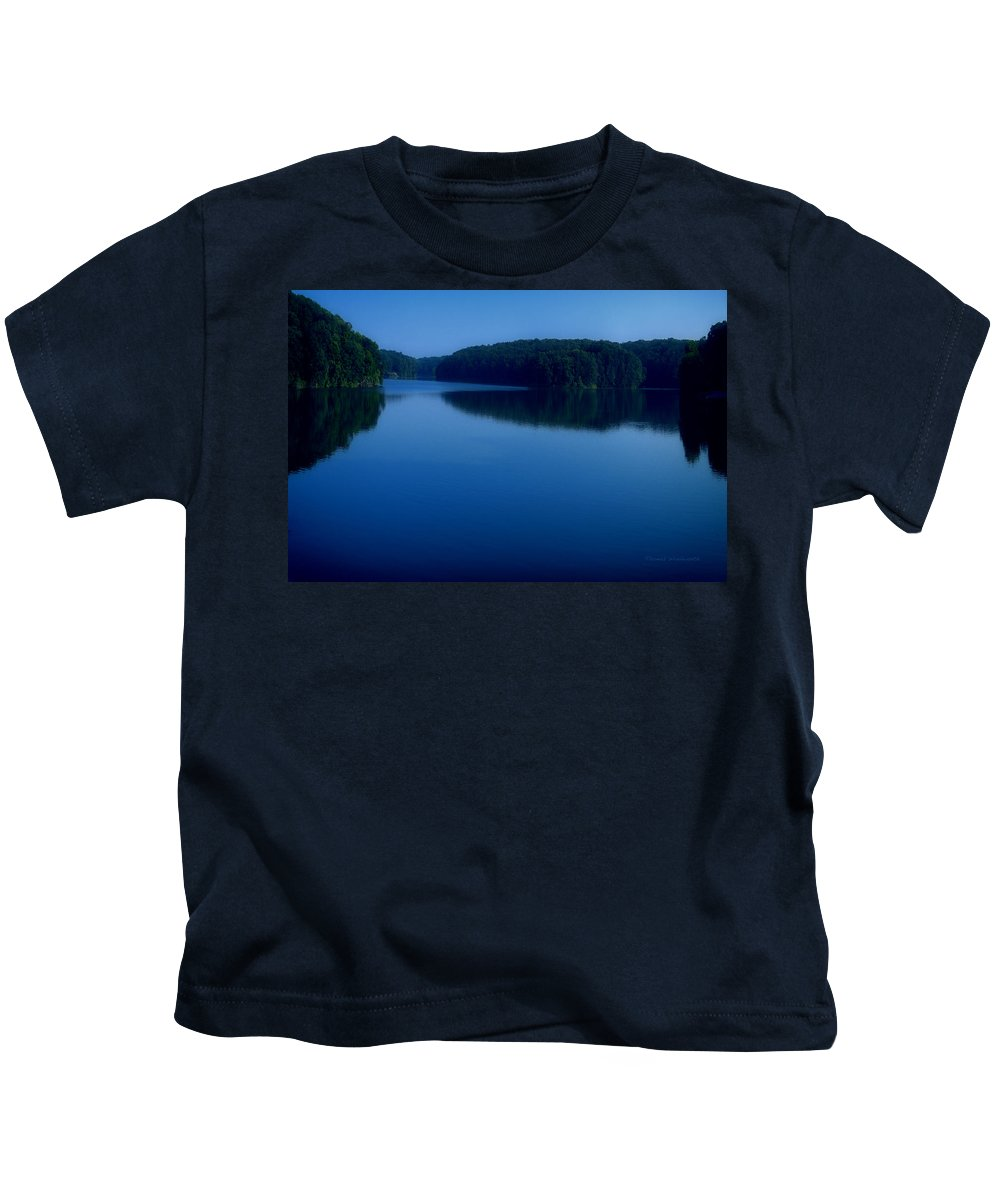 Cobalt Kids T-Shirt featuring the photograph A Cobalt Twilight by Thomas Woolworth