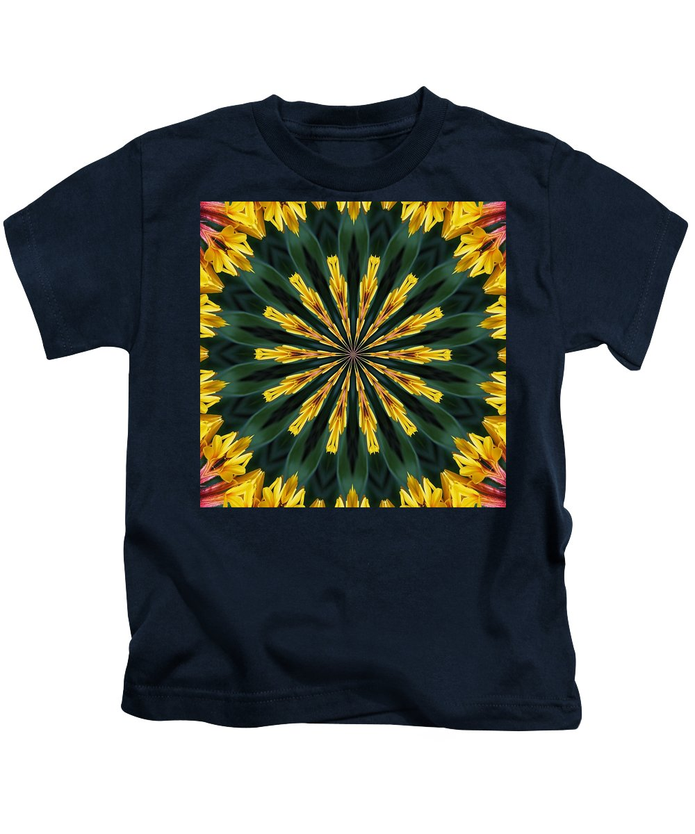 Computer Generated Images Kids T-Shirt featuring the painting A Fanfare Of Flowers by Taiche Acrylic Art