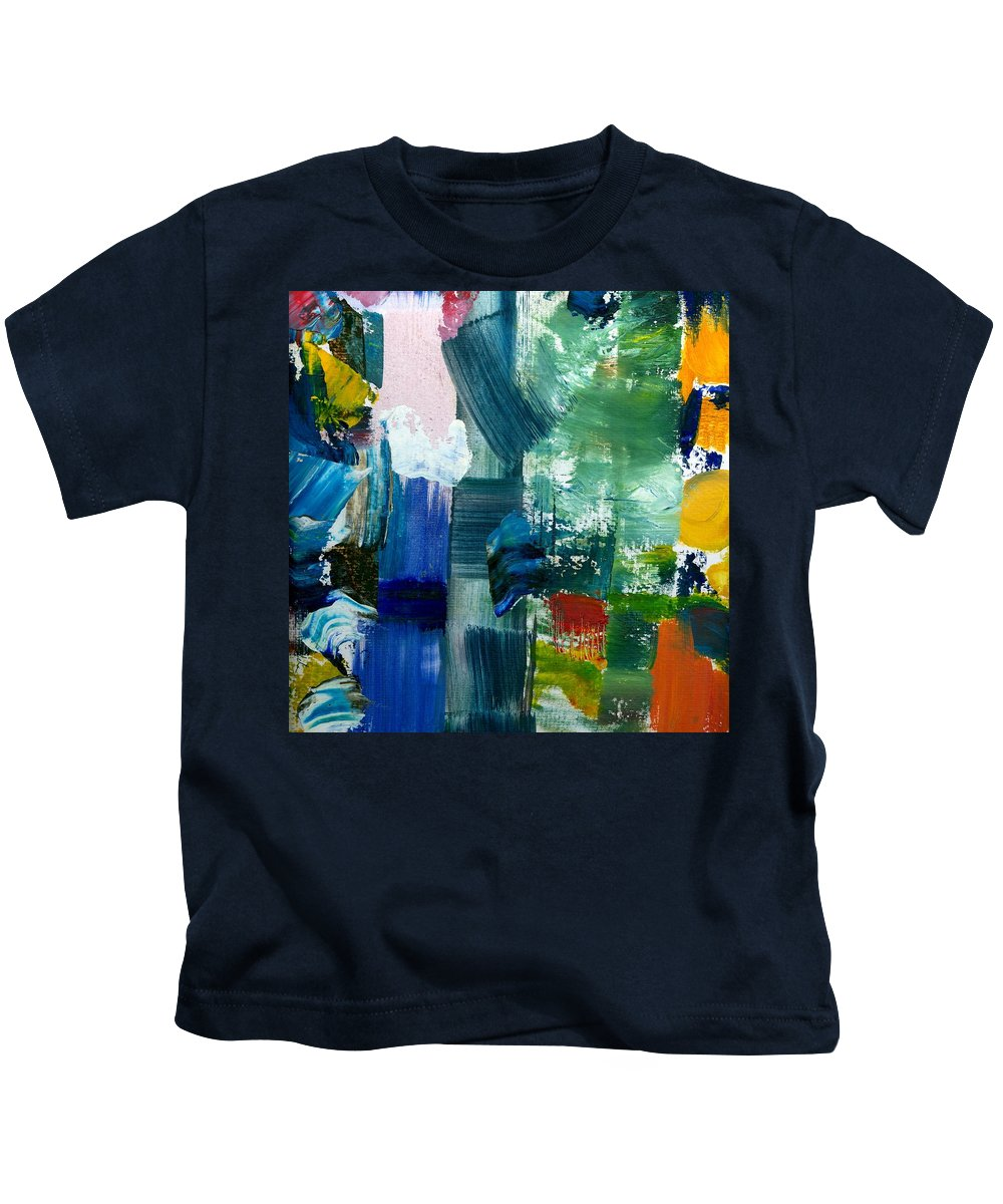 Abstract Collage Kids T-Shirt featuring the painting Abstract Color Relationships Lll by Michelle Calkins