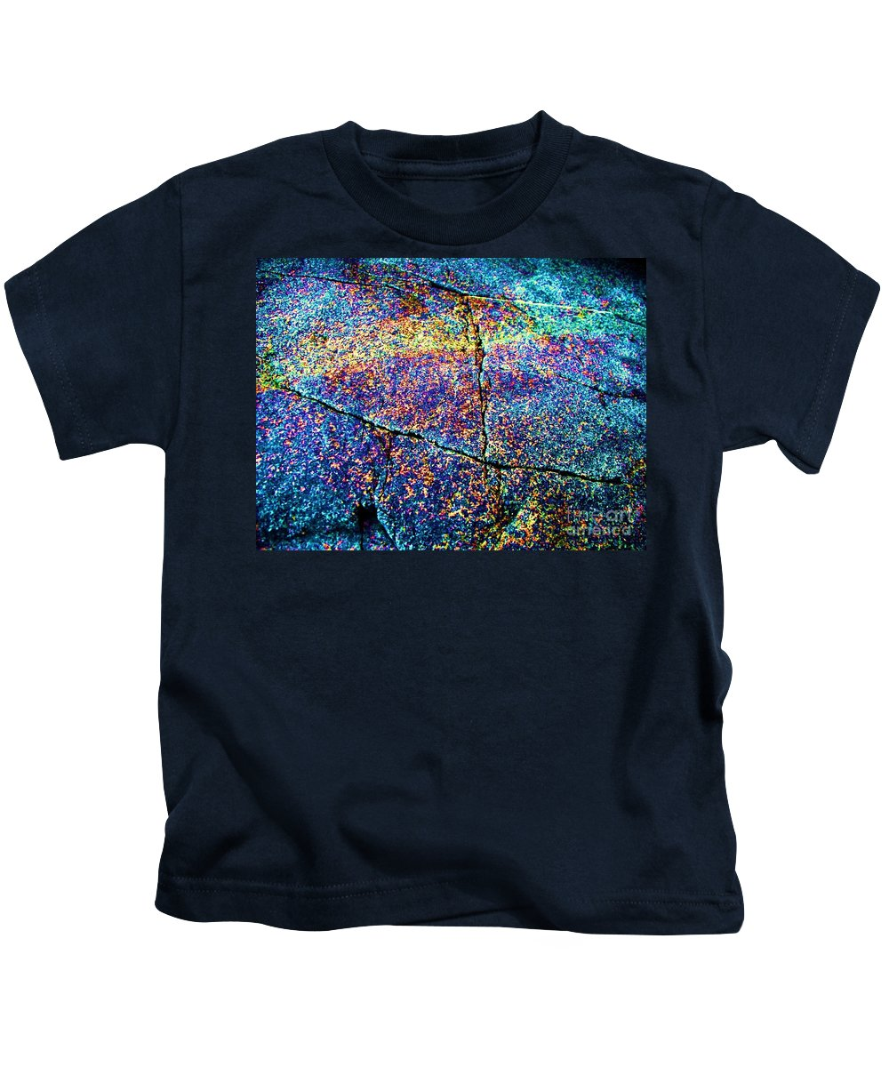 Abstract Kids T-Shirt featuring the photograph Abstract Stone by Eric Schiabor