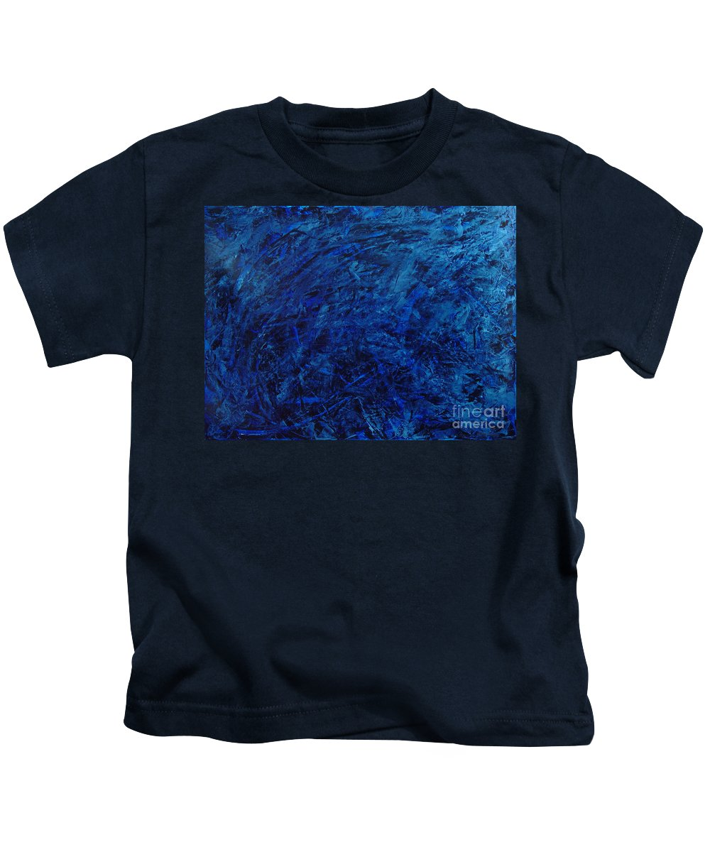 Abstract Kids T-Shirt featuring the painting Alans Call by Dean Triolo