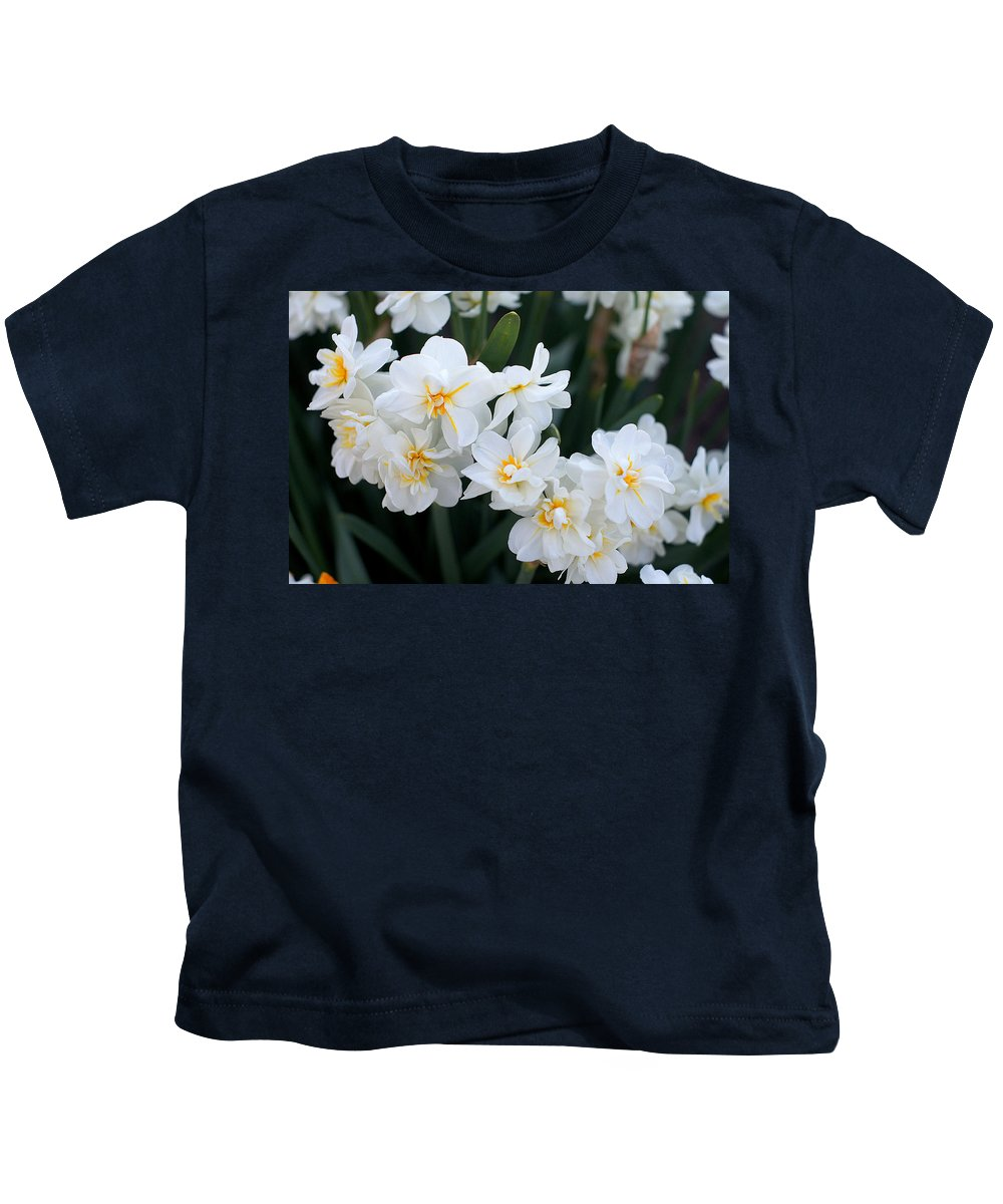 White Jonquils Kids T-Shirt featuring the photograph All In White by Ira Shander