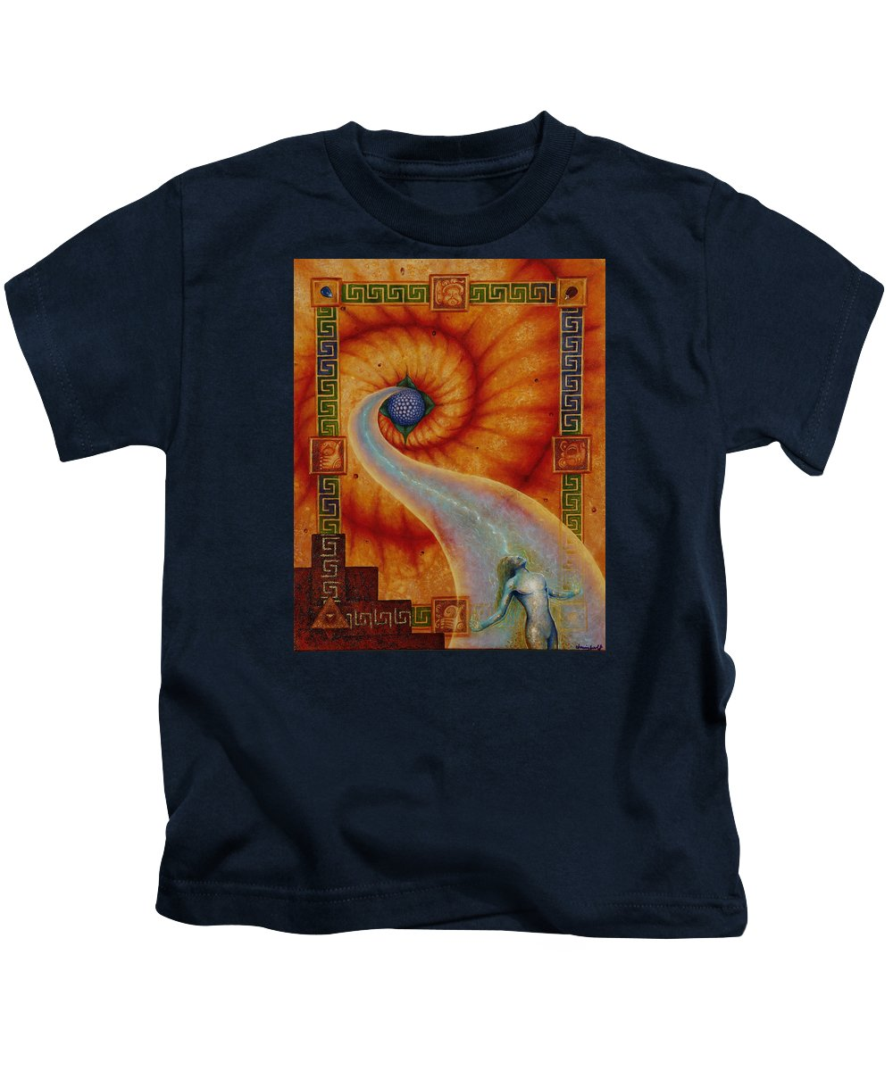 Native American Kids T-Shirt featuring the painting Amaizeing Grace by Kevin Chasing Wolf Hutchins
