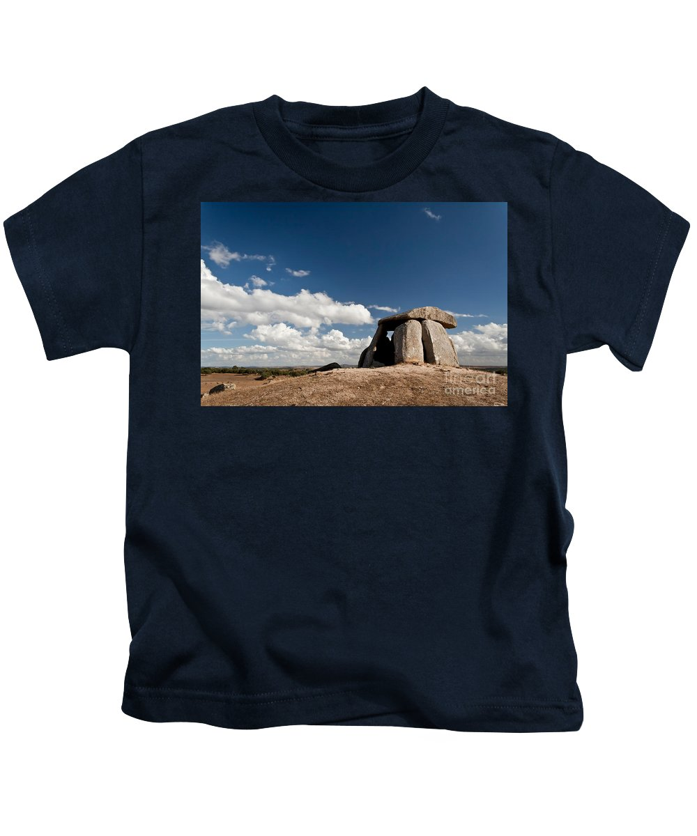 Dolmen Kids T-Shirt featuring the photograph Ancient Dolmen by Jose Elias - Sofia Pereira