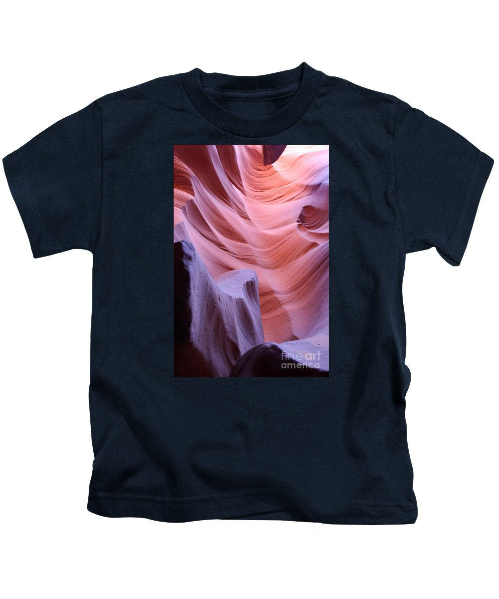 Canyon Kids T-Shirt featuring the photograph Antelope Canyon Waves by Christiane Schulze Art And Photography