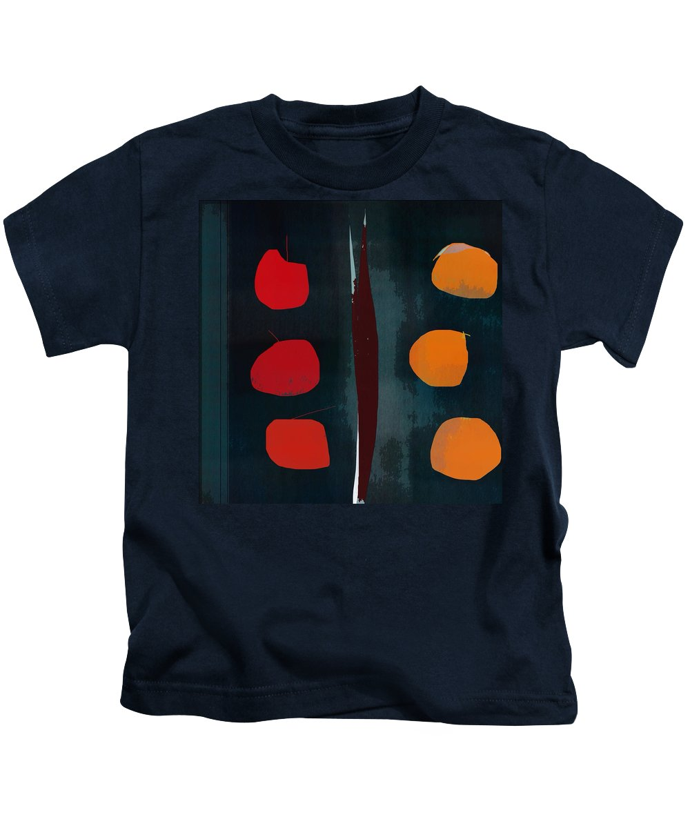 Abstract Kids T-Shirt featuring the digital art Apples And Oranges by John Allen