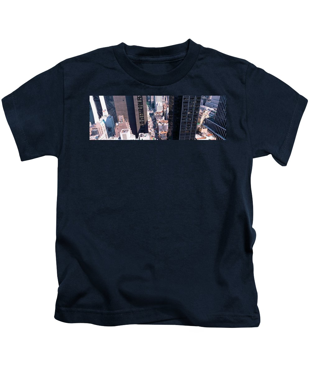 Photography Kids T-Shirt featuring the photograph Architecture New York Ny Usa by Panoramic Images