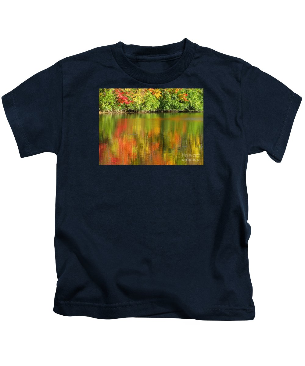 Autumn Kids T-Shirt featuring the photograph Autumn Brilliance by Ann Horn