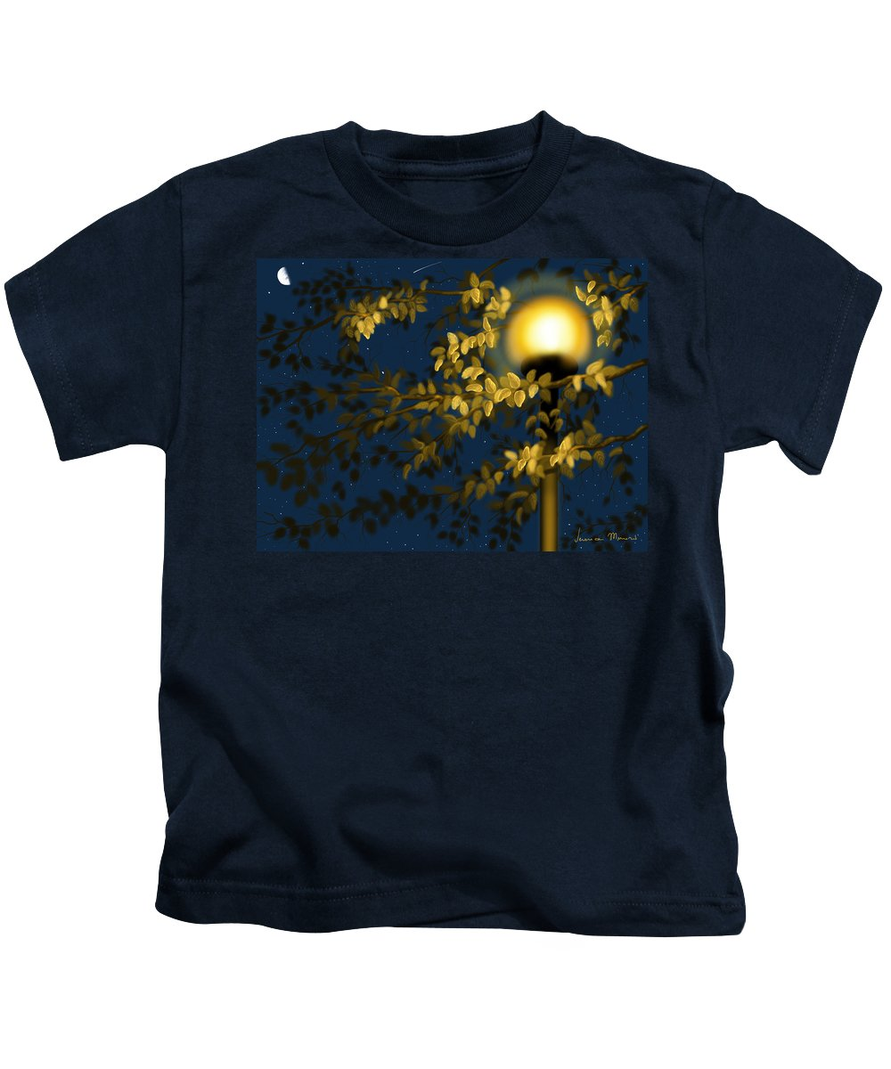 Ipad Kids T-Shirt featuring the painting Autumn by Veronica Minozzi