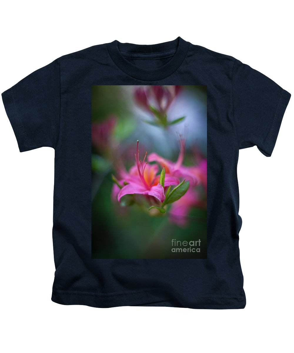 Flower Kids T-Shirt featuring the photograph Azalea Color Mystere by Mike Reid