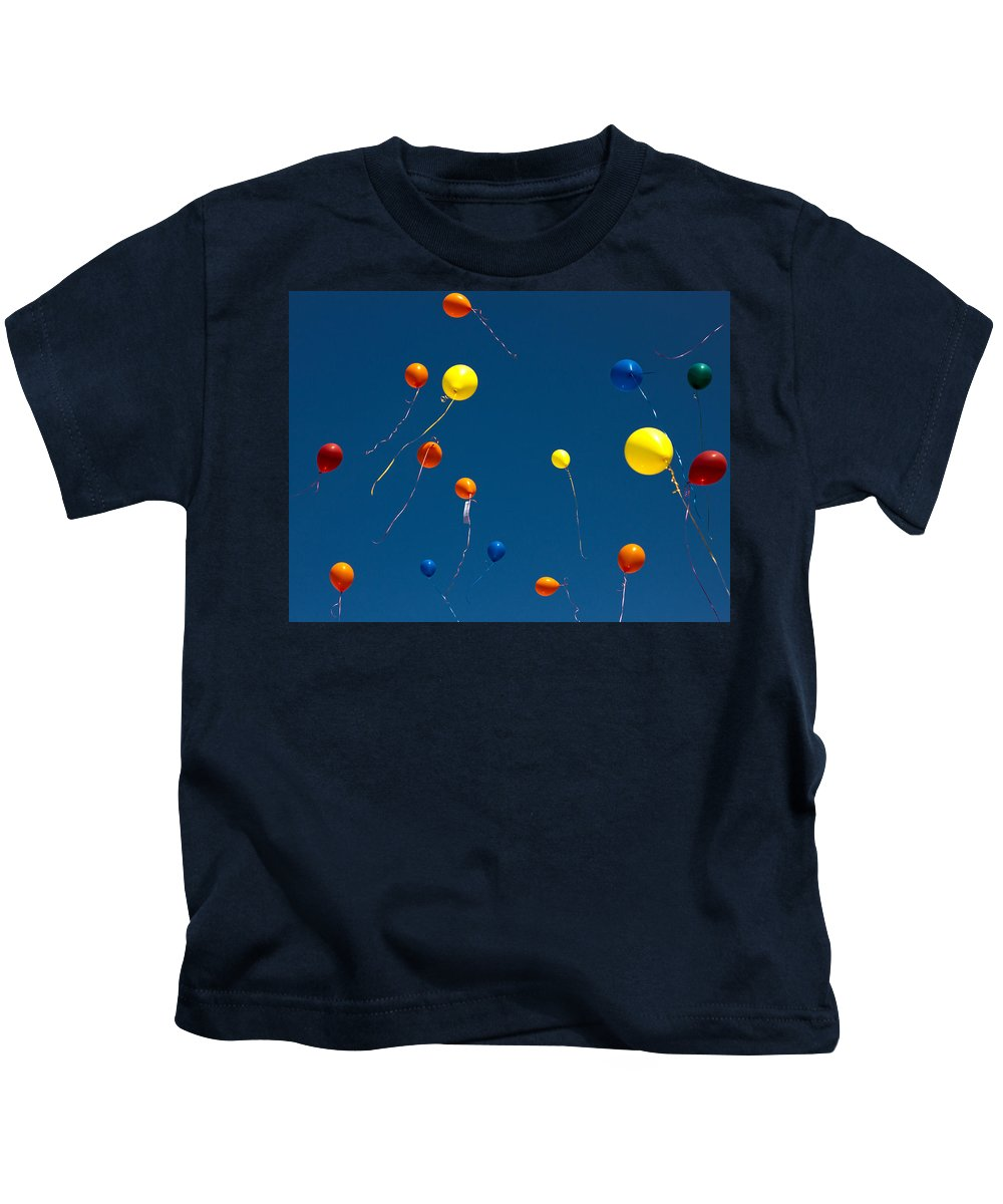 Balloon Kids T-Shirt featuring the photograph Balloons by Daniel Csoka