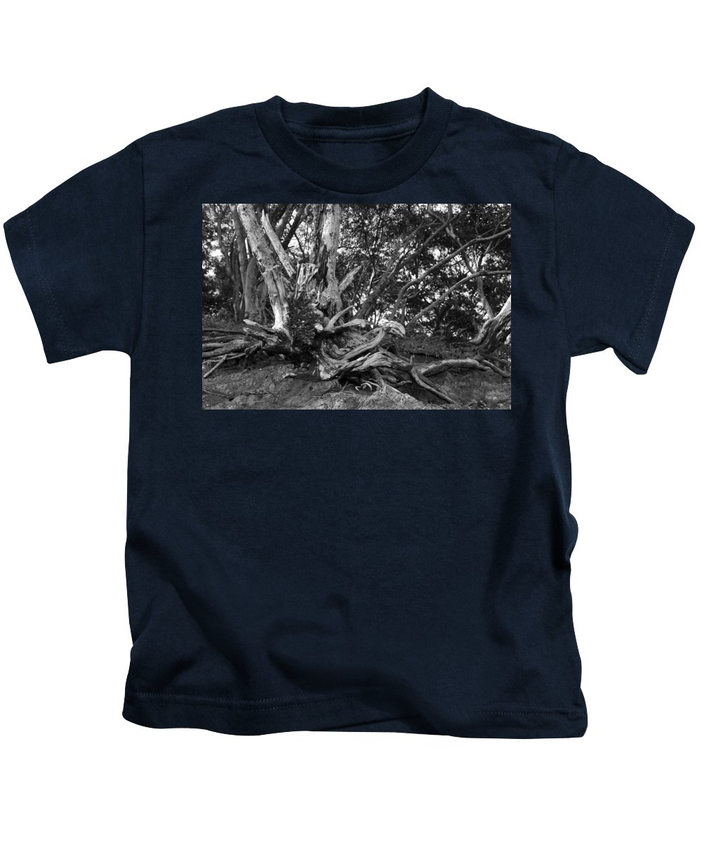 Tamarindo Kids T-Shirt featuring the photograph Barking Crab by Bailey Barry