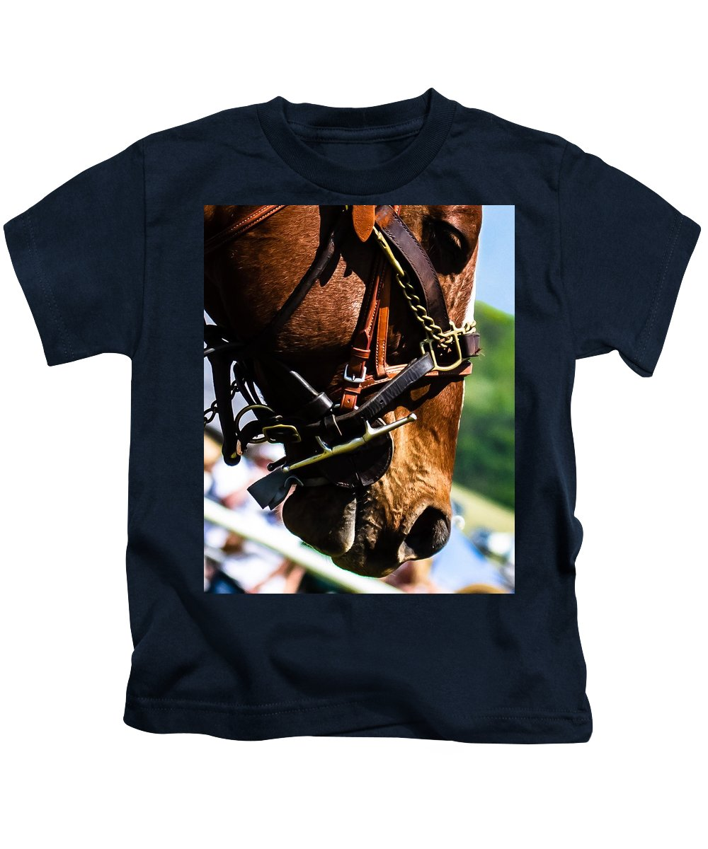 Steeplechase Kids T-Shirt featuring the photograph Be Quiet I'm Trying To Think by Robert L Jackson