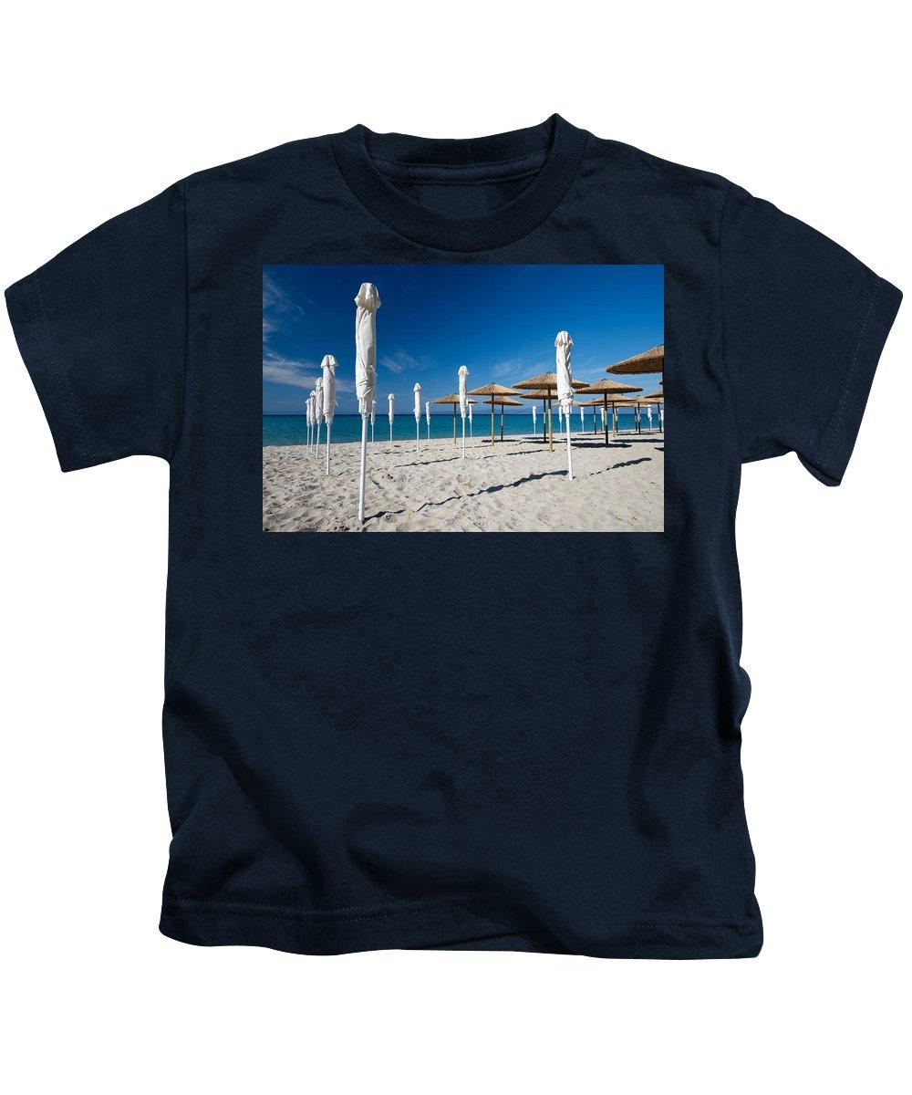 Art Kids T-Shirt featuring the photograph Beach by Roy Pedersen