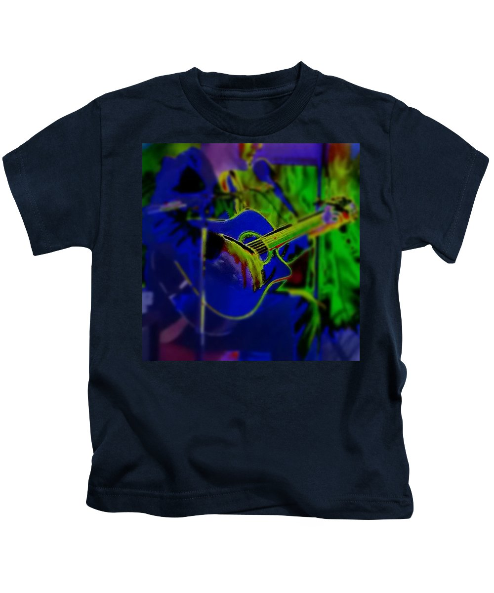Guitar Kids T-Shirt featuring the photograph Beanstalk by Thomasina Durkay