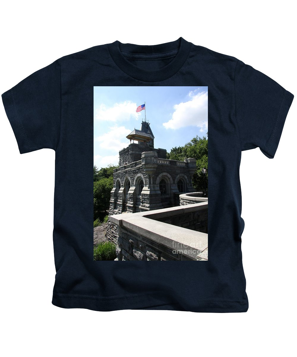Belvedere Castle Kids T-Shirt featuring the photograph Belvedere Castle - Central Park by Christiane Schulze Art And Photography