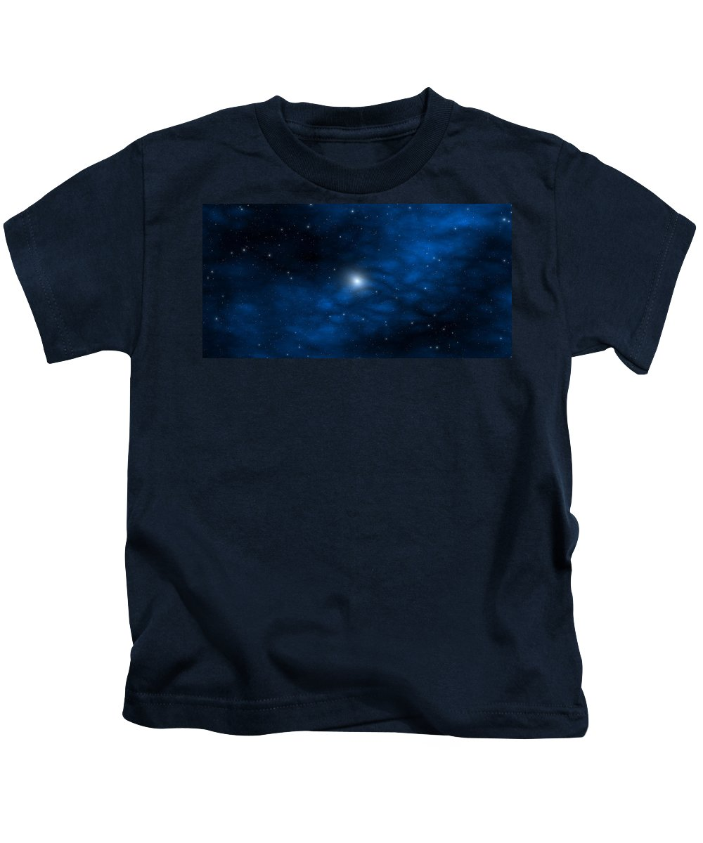 Space Kids T-Shirt featuring the digital art Blue Interstellar Gas by Robert aka Bobby Ray Howle