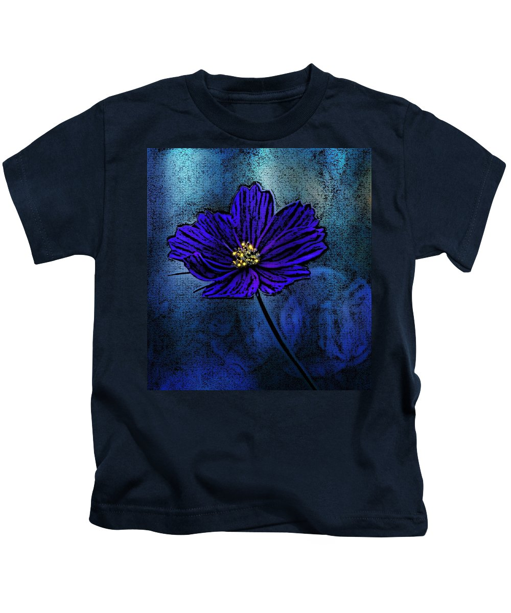Blue Lady Kids T-Shirt featuring the photograph Blue Lady by Barbara S Nickerson