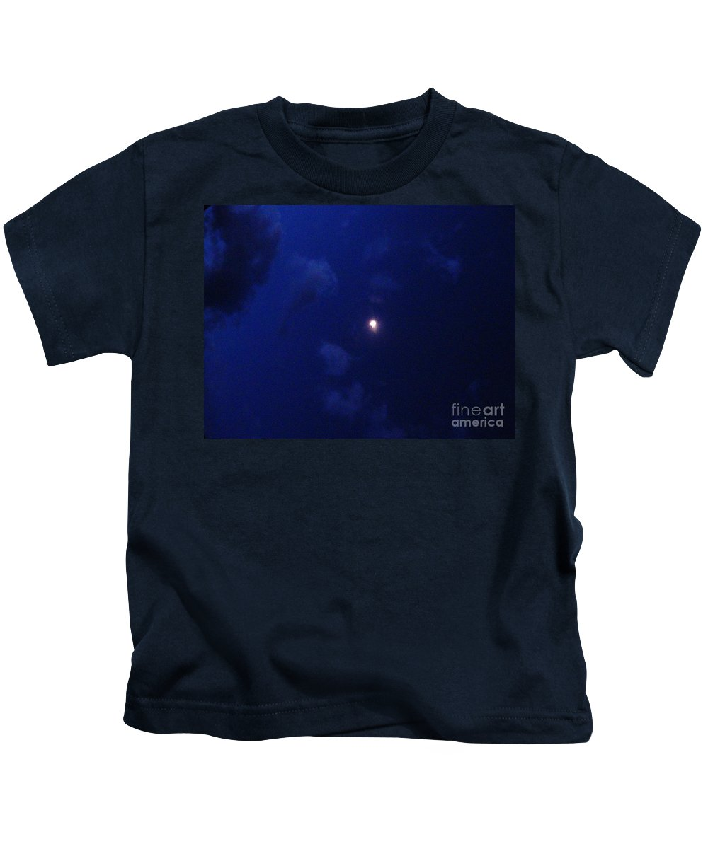 Blue Moon Kids T-Shirt featuring the photograph Blue Moon by Janell R Colburn