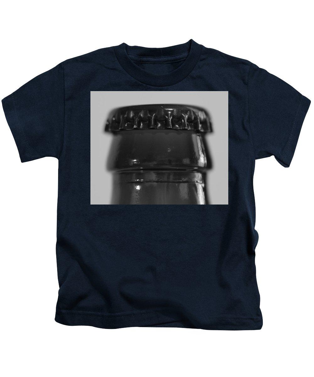 Macros Kids T-Shirt featuring the photograph Bottle Cap by Greg Wells