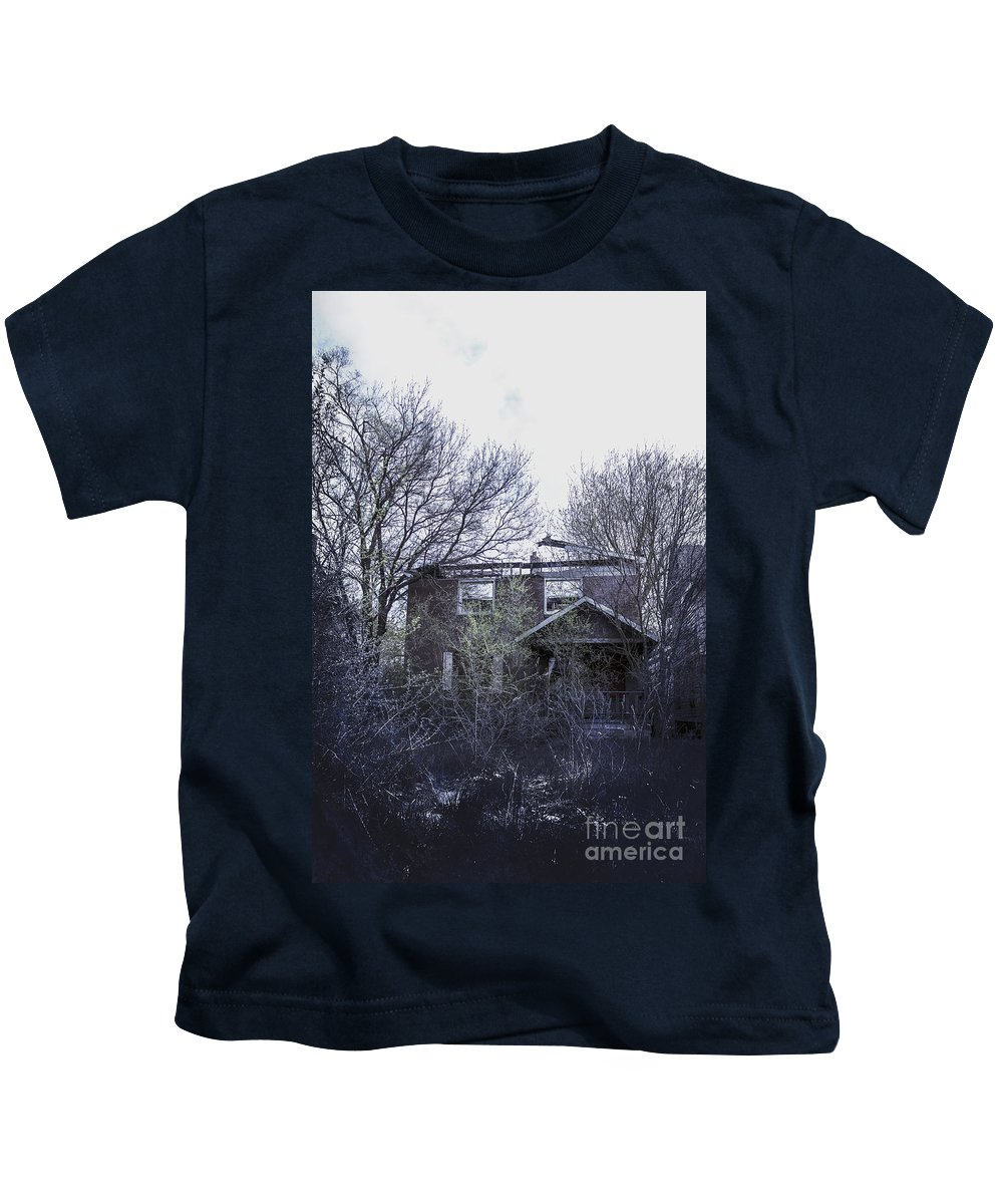House Kids T-Shirt featuring the photograph Burned Out by Margie Hurwich