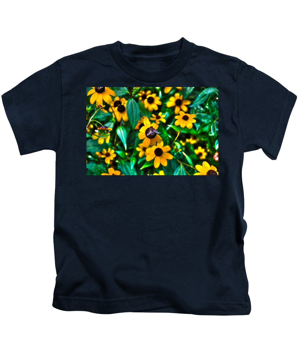 Bee Kids T-Shirt featuring the photograph Busy Bee by Randy Aveille