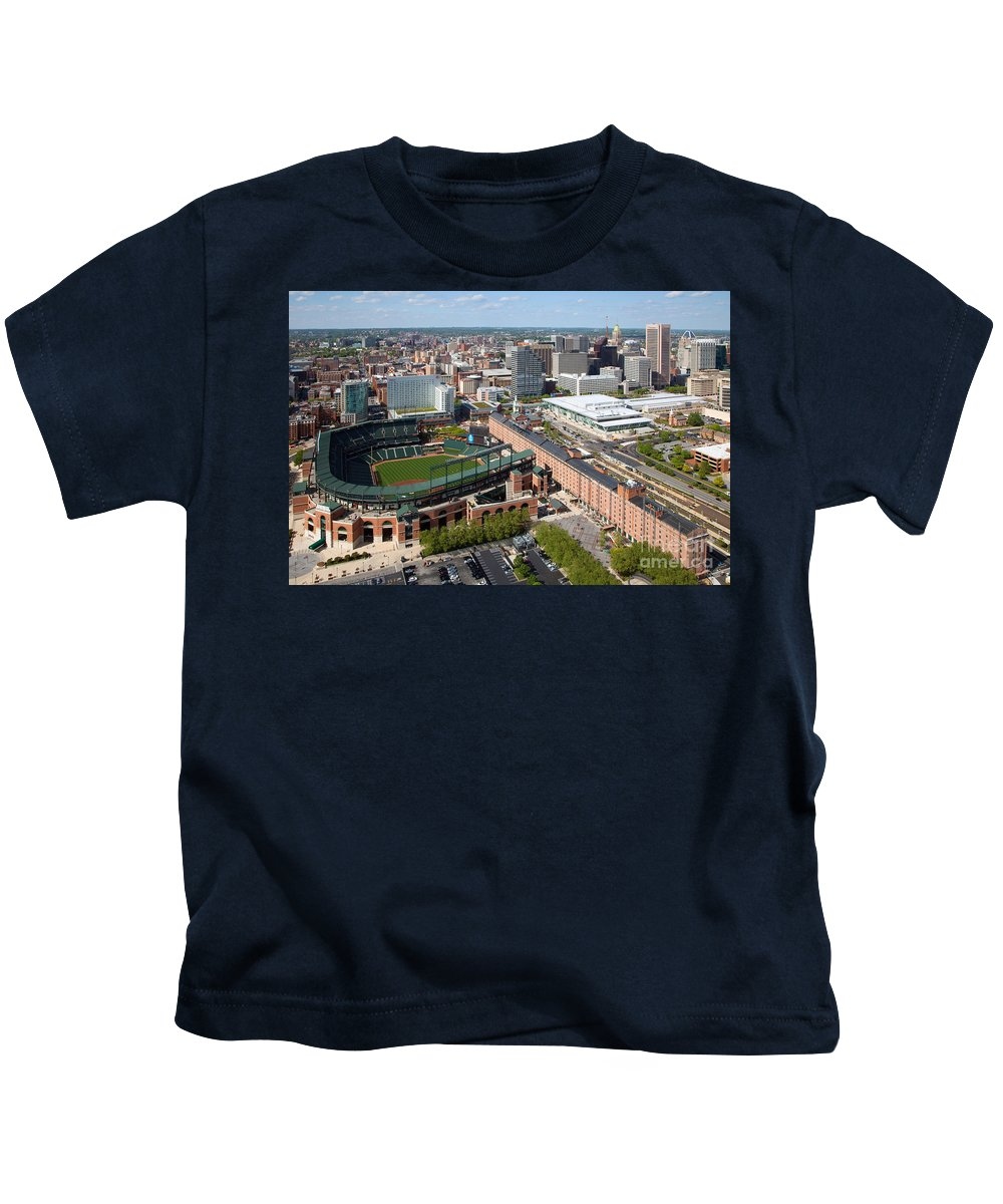 Baltimore Kids T-Shirt featuring the photograph Camden Yards by Bill Cobb